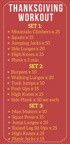 At Home Thanksgiving Workout | Maximum Calorie Burner