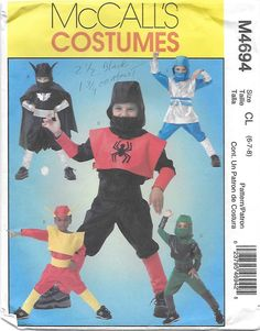 McCall's 4694 Super Heroes Costume Sewing Pattern by Denisecraft on Etsy