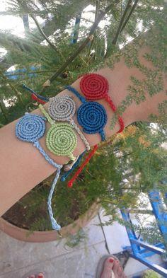 Items similar to Macrame bracelet/ handmade jewelry/ spiral on Etsy Macrame Bracelets, Handmade Bracelets, Handmade Jewelry, Crochet Basket Pattern, Crochet Patterns, Handmade Rakhi Designs, Rakhi Making, Boho Style, Boho Chic