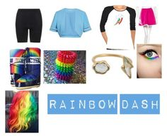 """""""Rainbow Dash Equestria Girls Closet Cosplay"""" by thecrystalheart on Polyvore featuring Gina Bacconi, SPANX, RED Valentino, Tecnica and Marie Hélène de Taillac"""