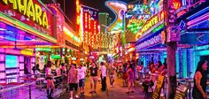 Soi Cowboy is one of the main tourist attractions and night life ares in Bangkok, Thailand. Bangkok Market, Bangkok Travel, Bangkok Thailand, Asia Travel, Italy Travel, Bangkok Guide, Thailand Honeymoon, Walking Street, Red Light District
