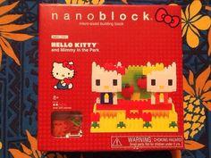 NEW Sanrio Nanoblock Hello Kitty and Mimmy in The Park Darling! Over 200 blocks! #nanoblock
