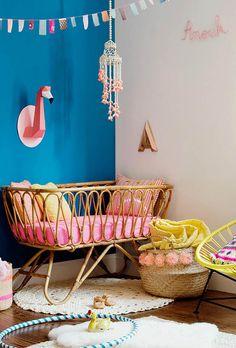 Chambre bébé tropicale