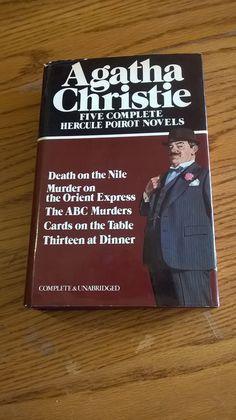Agatha Christie HERCULE POIROT, 5 Novel Omnibus, 1980, Avenel, Hardcover/Dust Jacket, Good! by LightsOutBookshoppe on Etsy