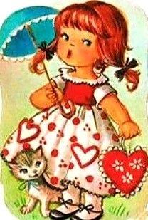 Umbrella Art, Valentines Day Dinner, Craft Cards, Sarah Kay, Young Love, Friends Forever, Vintage Postcards, Paper Dolls, Art Girl