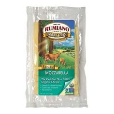 Rumiano Cheese Organic Sliced Mozzarella Cheese, 6 Ounce -- 12 per case. ** Be sure to check out this awesome product.