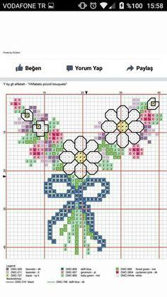 Cross Stitch Alphabet, Cross Stitch Patterns, Cross Stitch Rose, Hula, Geraniums, Old And New, Needlework, Projects, Inspiration
