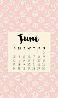 June 2018 iPhone Calendar Designs