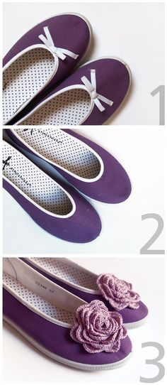 DIY Shoes : DIY Customizing my flat shoes