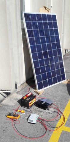 Mini sziget - napelemes áramkészítés kezdőknek! - Napkollektor, split rendszer, napkollektor kiegészítő, napelem