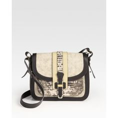 Michael Kors Saddle Bag, Ecru