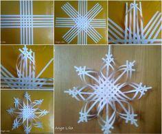 Paper Snowflake Ornament DIY Tutorial BeesDIYcom diy christmas crafts with paper - Diy Paper Crafts Diy Christmas Snowflakes, 3d Paper Snowflakes, Snowflake Craft, Christmas Paper Crafts, Noel Christmas, Holiday Crafts, Christmas Decorations, Christmas Ornaments, Snowflake Ornaments