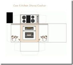 Cow kitchen Stove