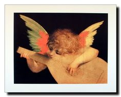 If you want to make a beautiful statement to any wall apply this stunning angel playing Mandolin wall poster in your home which is sure to attract lot of attention and enhance your home year round. This poster displays the image of a cute little angel playing Mandolin Music which will bring warmth to any room. This poster is ideal for baby rooms and dorm rooms. Hurry up and order this poster for its durable quality with wonderful color accuracy.