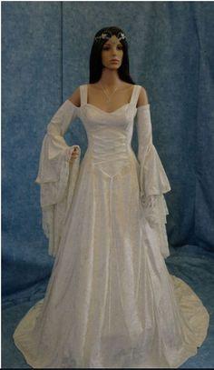 Medieval Wedding Dress wedding gown theme wedding medieval wedding gown renaissance faire gown renaissance wedding Fantasy wedding Fantasy theme wedding