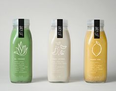 Jucy Lu A branding and packaging design for cold-press juiceries by El Autobus studio.