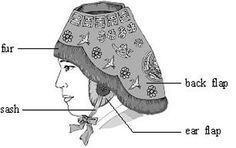 The Nambawi is one of the oldest traditional winter hats in Korea. At first, only men and women of the upper classes wore it. Later, it was worn by the commoners, and still later only by women. The hat protects the head and ①forehead from freezing winds and has a round opening at the top. There is a long back flap for the back of the neck, and ear flaps on both sides ②reveal the ears. Silk sashes are ③attached to the ear flaps. The sashes are ④tied under the chin to hold the hat tightly in…