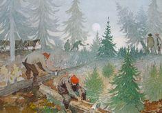 'Grantræet' - 'The Fir Tree'  by Hans Christian Andersen   illustrated by Svend Otto S. aka Svend Otto Sørensen (1916-96)