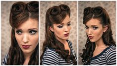 The Freckled Fox : Sweetheart Hair Week: Tutorial #2 - Retro Victory Rolls