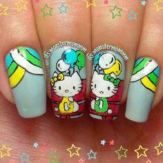 HELLO KITTY by monstermommm  #nail #nails #nailart