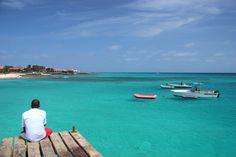 www.kaapverdie.nl - Uitzicht vanaf de pier in Santa Maria, Sal, Kaapverdië, Kaapverdische Eilanden, Cabo Verde, Cape Verde