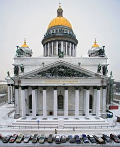 Winter St. Isaac Cathedral, St. Petersburg. Russia.