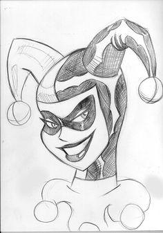 quinn harley bruce timm deviantart drawing easy drawings disneytegninger pencil joker sketches cartoon draw cool batman tegninger jla animated lil