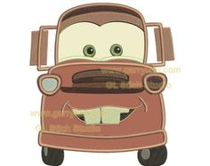 Tow Mater Embroidery Applique, digital pattern, machine embroidery design, boy race cars, children truck, vehicle-004