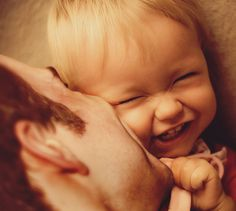 Daddy kiss...