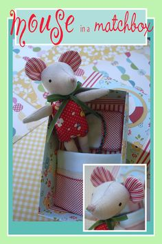 Mouse in a Matchbox sewing pattern