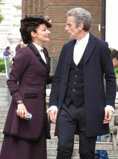 The Doctor and Missy (who is so fine she blows my mind, hey Missy!)