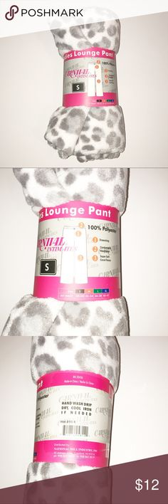 NWT Animal Print Fuzzy Lounge Pants Size Small NWT Super soft animal print lounge pants size small. New, with drawstring. Very comfy, perfect for lazy days or sleeping. It's too hot where I live and I never wear them. Please see pictures. Intimates & Sleepwear Pajamas