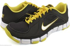 3e519eb7288e6 Nike Flex Show TR Men black Silver Yellow Athletic Running Shoes Size 9   Nike