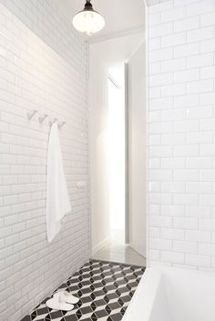 Linda Bergroth : private apartment Love the #Tile love the #Hooks #DesignPinThurs