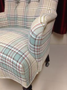 Re-upholstered customer chair #reupholstery