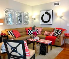 2 Ways and 10 Tips to Style That Big, Brown Sectional