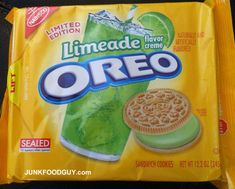 "Limited Edition Limeade Oreos - I'm of the ""Don't knock it 'til you try it"" frame of mind, so I'd try them. ~ <3 Michelle M"