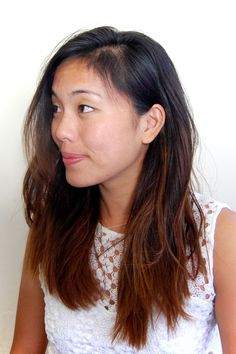 DIY Ombre for Asian Hair using bleach and ash blonde dye!