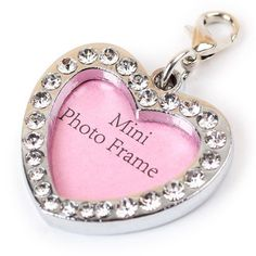 Heart Dog Tags, Pet id Tags, Pink Silver Color by Duke Austin * See this great product. (This is an affiliate link and I receive a commission for the sales)