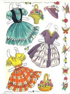 (⑅ ॣ•͈ᴗ•͈ ॣ)♡                                                              ✄Flower Girls Paper Dolls