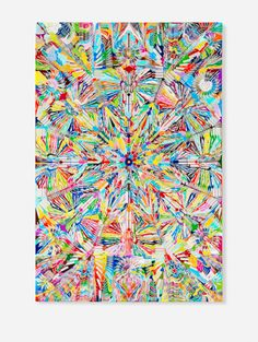 Damien Hirst, Forbidden Fruit. Made entirely of scalpel blades and color charts.