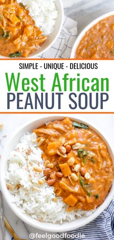 This Authentic West African Peanut Soup Recipe Is Made With Simple Ingredients Like Peanut Butter And Tomato Paste, But The Flavor Is Unique And Delicious African Food West African Recipes Sierra Leone Peanut Butter Soup Recipes West African Peanut Soup, African Peanut Soup Recipe, West African Food, Peanut Recipes, Healthy Recipes, Simple Soup Recipes, Healthy Food, Peanut Butter Soup, Clean Eating