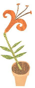 tiger lily paste piece via Paste SF #papercut love