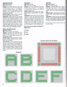 Merry Christmas Monogram Squares Pg. 3/6