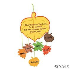 Featuring an assortment of fall leaves, this Thankful Leaves Mobile Craft Kit is a great way for kids to express everyth. Thanksgiving Crafts For Toddlers, Sunday School Crafts For Kids, Bible Crafts For Kids, Harvest Crafts For Kids, Preschool Fall Crafts, Fall Crafts For Toddlers, Thanksgiving Activities For Kids, Church Activities, Cheap Fall Crafts For Kids