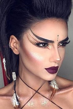 39 sexy halloween makeup looks that are creepy yet cute # creepy . - 39 sexy halloween makeup looks that are creepy yet cute - Beautiful Halloween Makeup, Creepy Halloween Makeup, Halloween Makeup Looks, Halloween Ideas, Indian Makeup Halloween, Vintage Halloween, Witchy Makeup, Pretty Halloween Costumes, Vintage Witch