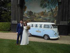 VW wedding camper van at The Larmer Tree Gardens wedding venue