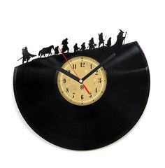 Vinyl Record Clock - Hobbit. Vinyl Eaters is an upcycling product made from old vinyl records. Cool gift ideas for music lovers.
