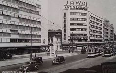1935 Bucharest Romania, Public Transport, Time Travel, Dan, Buildings, Nostalgia, Art Deco, Street View, Memories