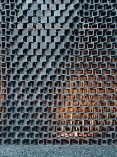 ideas exterior wall design texture for 2019 Parametric Architecture, Brick Architecture, Parametric Design, Architecture Details, Interior Architecture, Exterior Wall Design, Brick Design, Facade Design, Brick Facade